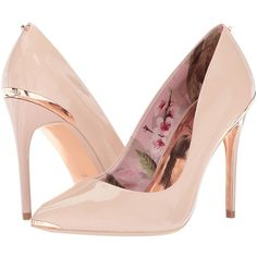 Ted Baker Kaawa 2 (Nude Patent Leather) Women's Shoes (265 NZD) ❤ liked on Polyvore featuring shoes, pumps, ted baker pumps, nude patent leather pumps, high heel stilettos, high heeled footwear and nude high heel pumps