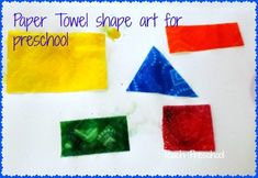 In today's post, I am sharing an opportunity to explore shapes and color through a very simple and engaging artsy experience.