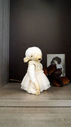 Teddy Bear style Artist viscose vintage OOAK  handmade collectible Monster toy by IntDolls on Etsy