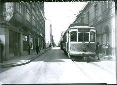 1934 Calle de los Rebeldes, actual Articulo 123 cruce con San Juan de Letran , a, la, izq, el edificio Hoja de Lata en su momento el mas alto de la Ciudad.