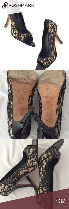 White House Black Market black lace peep toe heel ASAP White House Black Market Shoes Heels