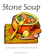 """Stone Soup"" Lapbook, ideas, and crafts for story extenders"