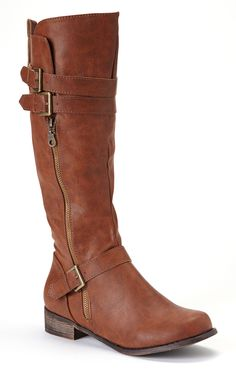 Cognac Boots - cute with knee socks