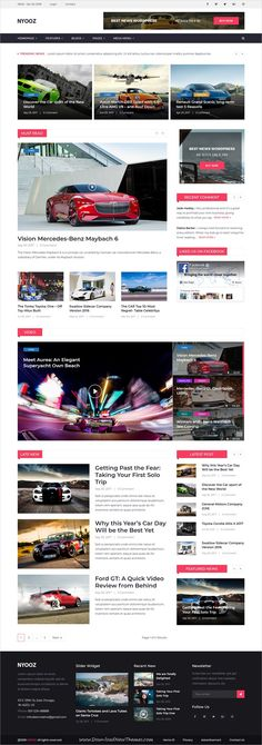Nyooz is clean and modern design 5in1 responsive WordPress theme for #car #news #blog and magazine #website to live preview & download click on Visit 👆