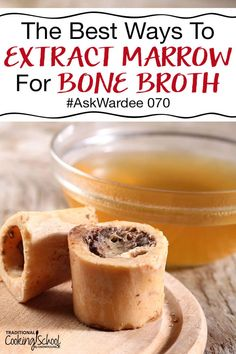 You include plenty of bones, soft tissue, and even bones with marrow when making your bone broth. But what if some of that nourishing, healing marrow is still in the bones when the broth is done cooking in the crock pot or pressure cooker? What are the best ways to extract marrow for bone broth to make sure you're getting all the leaky gut healing properties and to make a delicious soup recipe? Watch, listen, or read so you don't miss any of the benefits of bone marrow! #bonemarrow #benefits #re Gaps Diet Recipes, Thm Recipes, Slow Cooker Recipes, Crockpot Recipes, Whole Food Recipes, Healthy Recipes, Healthy Foods, Dinner Recipes, Bone Broth