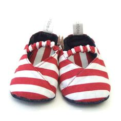 TIC TAC TOE | Kimono Shoes with Stripes in Red - Baby - Baby Fashion - kinderelo.co.za