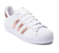 Becoming Basic Rose Gold Addidas Shoes, Womens Sneakers Adidas, Adidas  Shoes White, White dd97c375abb8