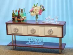 Fix you a drink? Mid-Century Barbie Furniture