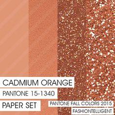 Glitter&Plain PAPER Cadmium Orange PANTONE by Fashiontelligent