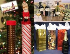 Calgary wine gifts wrapping.