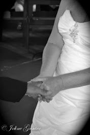 Hold my hand.  Lovely moment in the wedding.