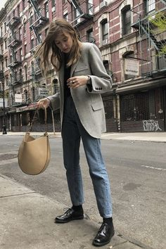 Survival of the Chicest: 7 Designer Shoes That Will Never Look Outdated Classic designer shoes: Shot from the Street wearing Church Brogues The post Survival of the Chicest: 7 Designer Shoes That Will Never Look Outdated appeared first on Design Ideas. Looks Street Style, Looks Style, My Style, Blazer, Fall Outfits, Fashion Outfits, Fashion Ideas, Fashion Quotes, Modest Fashion