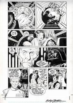 Star Wars A New Hope Special Edition Adaptation #3 pg. 7 by Eduardo Barreto, Al Williamson & Carlos Garzon (Dark Horse 1997) Comic Art