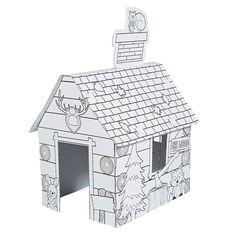Color+Your+Own+Log+Cabin+Playhouse+-+OrientalTrading.com