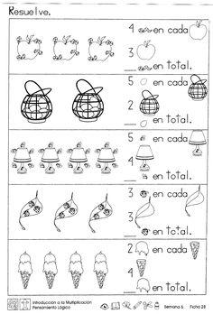 Introducción a la multiplicación pensamiento logico