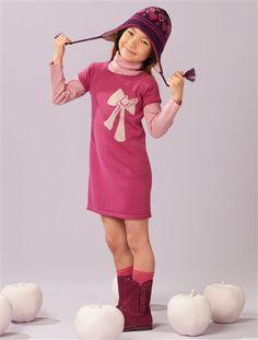 Tolles Strickkleid mit Schleife aus der Vertbaudet Bio-Kollektion #2012