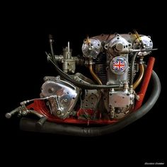 """combustible-contraptions: """" 1959 LCH / Jones Racing Motorcycle Engine 
