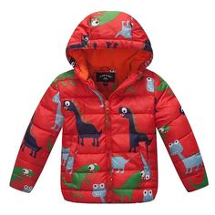 Little Toddler Boy Down Jacket Outerwear Hoodies Coat Red 7t. Asia size please see size chart for reference. Long sleeve Hoodies Jacket. material : down and polyester. Season :Spring, Autumn, Winter. Made and ship from China.