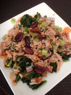 Kale and tuna salad homemade by creativewayz Tuna Salad, Kale, Risotto, Grains, Foods, Homemade, Ethnic Recipes, Tuna Fish Salad, Collard Greens