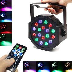 18W LED RGB Stage DMX Effect Par Strobe Light for Christmas Club Wedding Party KTV