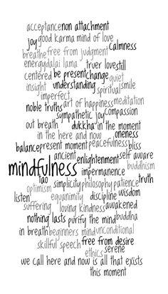 Buddhism Spiritual Zen Typography Art of Happiness Word Art 10x20 inch PRINT. $45.00, via Etsy.
