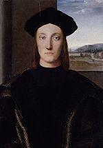 Raphaël Santi (ou Sanzio)(1483-1520) Portrait de Guidobaldo 1° de Montefeltro 1506
