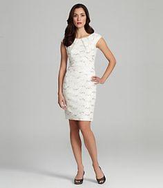 Jax Cap-Sleeve Rhinestone-Lace Dress | Dillard's Mobile...exit?