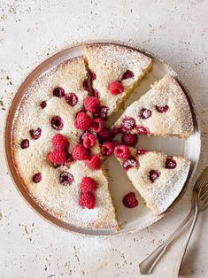 Simple Raspberry Lemon Poppy Seed Cake, with citrus, almonds, vanilla, and olive oil via forkknifeswoon.com | @forkknifeswoon #baking #cake #berry