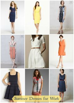 Work the Look: Summer Dresses -- great for the office