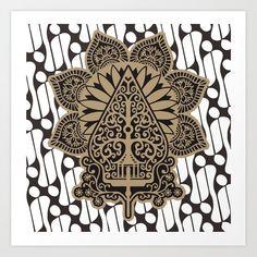 gunungan puppet Art Print by Yonk - X-Small Sacred Geometry Art, Paper Mache Crafts, Digital Art Tutorial, Flower Doodles, Psychedelic Art, Pattern Art, Art Tutorials, Art Sketches, Vector Art