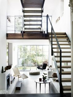 A Stylish staircase & living space