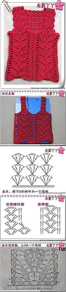 Blusinha de crochê - como fazer: