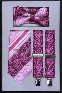 Men's Suspender, Tie, Bow Tie and Hanky Set - Suspender Sets - Accessories