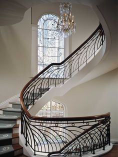 Wrought iron banister railings design