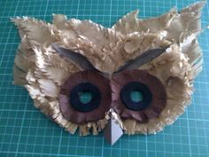 Jungle themed paper plate barn owl mask & paper plate owl mask | paper plate crafts | Pinterest | Owl mask ...