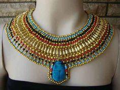 EXPRESS Ancient Egyptian Beaded Cleopatra by CleopatraCollar