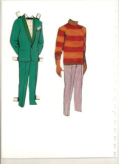 Swedish paper doll of Harry Bellafonte's clothes, 1966
