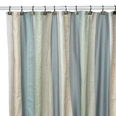 SPA PASTEL DECO BAIN Bed Bath and Beyond  Polyester Fabric SHOWER CURTAIN NEW #DecoBain #Modern
