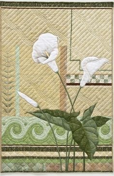 Calla Lily by Aileyn Ecob.  Gallery | Fiber On the Wall