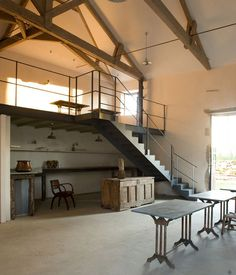 Rescuing an old stone farmhouse in France required a dig through layers of junk and concrete. Pull Barn House, Loft Railing, Barn Renovation, House Blueprints, House Inside, Industrial House, Dream House Plans, Cabin Homes, House Rooms