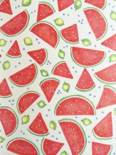 Tastes like Summer by Emma Hampton Cute Backgrounds, Cute Wallpapers, Wallpaper Backgrounds, Phone Backgrounds, Abstract Pattern, Pattern Art, Watermelon Wallpaper, Food Wallpaper, Fruit Art