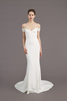 """""""Mel"""" Chantilly Lace Wedding Dress: Off the Shoulder Gown"""