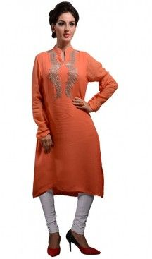 Incredible Pakistani Kurti Style with Resham Work | FH421667405 #kurtis , #kurtas , #tunic , #top , #fashion , #clothing , #women , #heenastyle , #ladies , @heenastyle , #teenagers , #girls , #style , #mode , #mehendi