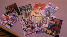 Javier Hernandez comics, 9 of 'em. Chicano comix count as Latin American, no?