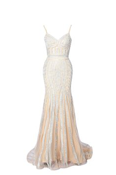 Celebrity Stone Formal Evening Dress Spaghetti Straps Long Mermaid Prom Dress * Learn more by visiting the image link. (This is an affiliate link) #PromandHomecomingDress