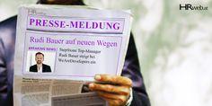 Pressemeldung | StepStone Top-Manager Rudi Bauer steigt bei WeAreDevelopers ein Best Practice, Neuer Job, Motivation, Manager, Digital, Books, Career Counseling, Young Professional, Resume Cv