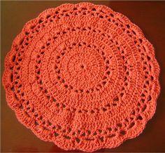 Sousplat Croche 3 | Café Com Leite Artesanatos | Elo7