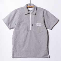 Collarless Shirt Men, Work Shirts, Polo Shirt, Pattern, Mens Tops, Fashion, Moda, Polos, Fashion Styles