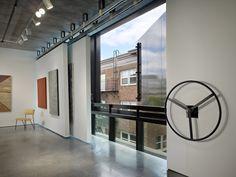 "Hanging interior barn ""walls"" - Conference Room - Photo: Benjamin Benschneider"