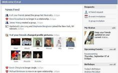 Facebook News Feed in 2006